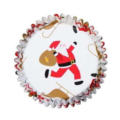 PME 30 Foil Baking Cases Santa & Sleigh