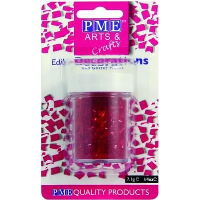 PME Edible Glitter Flakes Red 7.1g