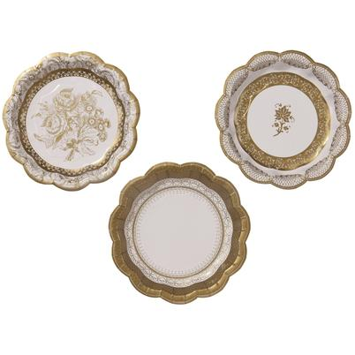 Talking Tables Party Porcelain 12 Gold Small Paper Plates