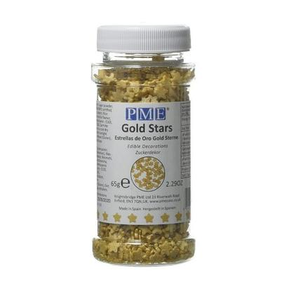 PME Edible Gold Stars Sprinkles 65g