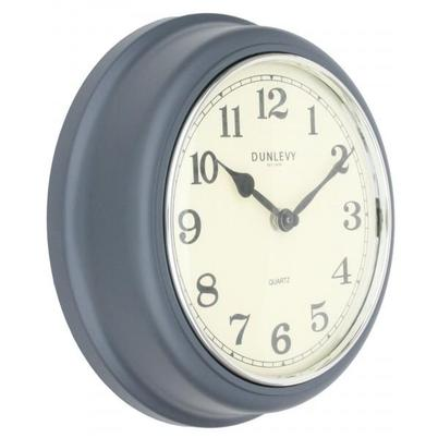 Dunlevy 10 Inch Grey Deep Plastic Wall Clock