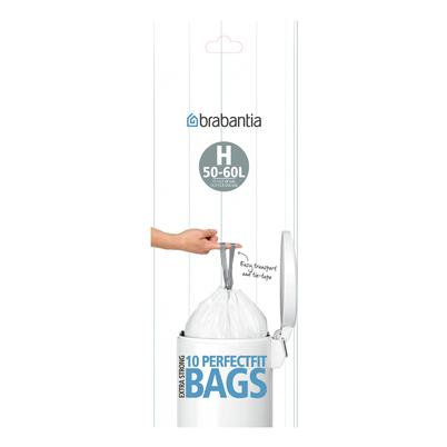 Brabantia PerfectFit 10 Compostable Bags - CODE H, 50-60L