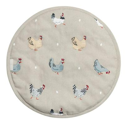 Sophie Allport Lay A Little Egg Hen Circular Hob Cover