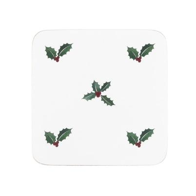 Sophie Allport Holly & Berry Coasters Set of 4