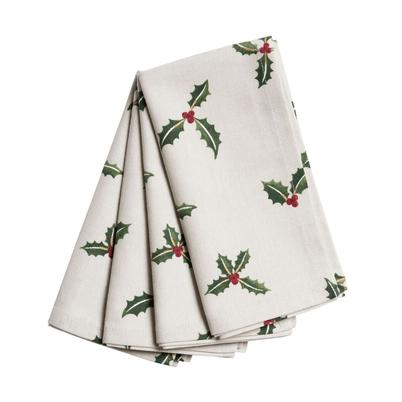 Sophie Allport Holly & Berry Napkins Set of 4