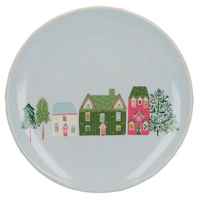 KitchenCraft The Nutcracker Collection Christmas Houses Canape Plate
