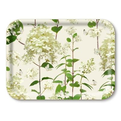 Jamida Birch Wood Tray Hydrangea 27x20cm by Michael Angove