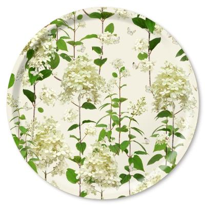 Jamida Birch Wood Round Tray Hydrangea 39cm by Michael Angove