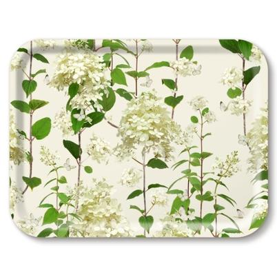 Jamida Birch Wood Tray Hydrangea 43x33cm by Michael Angove
