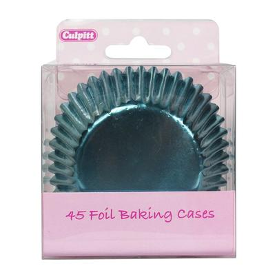 Culpitt 45 Ice Blue Foil Baking Cases