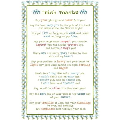 Ulster Weavers Irish Toasts Tea Towel