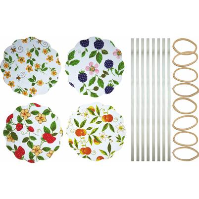 Home Made 8 Fruit Patterned Jar Cover Kit