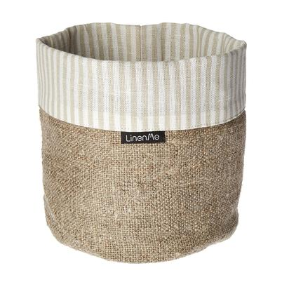 LinenMe Linen Cotton Jazz Basket Beige Natural