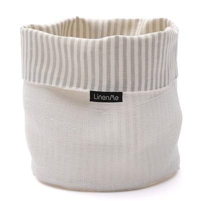 LinenMe Linen Cotton Jazz Basket White Beige