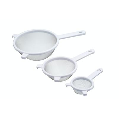 KitchenCraft Set of 3 Plastic Sieves with Steel Mesh