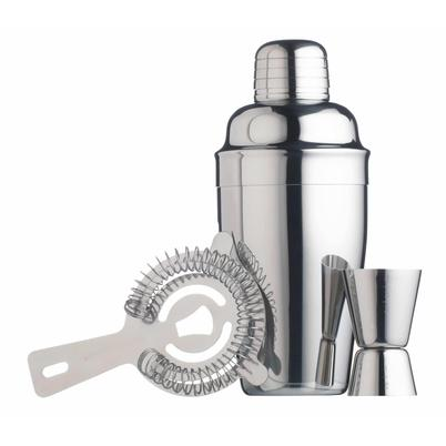 BarCraft 3pc Stainless Steel Cocktail Set