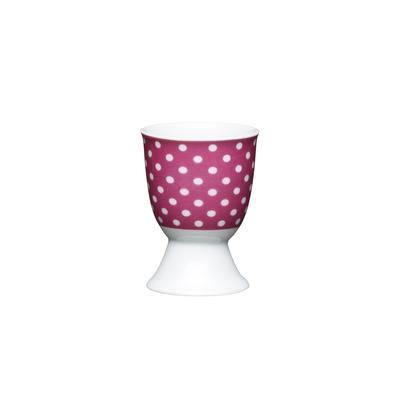 KitchenCraft Pink Polka Dot Porcelain Egg Cup
