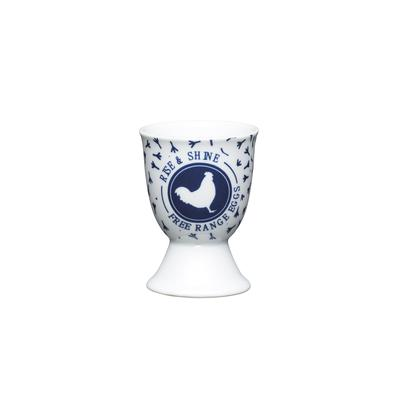KitchenCraft Traditional Blue Hen Porcelain Egg Cup