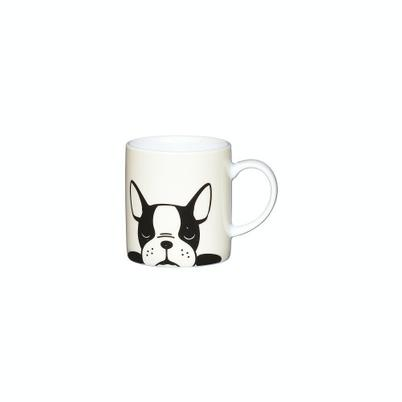 KitchenCraft 80ml Porcelain French Bulldog Espresso Cup