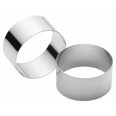 KitchenCraft Set of 2 Stainless Steel Cooking Rings
