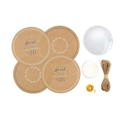 Kitchen Pantry 24pc Kraft Paper Jam Jar Cover Set