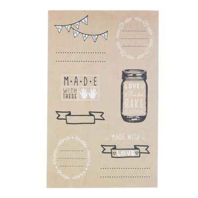 Kitchen Pantry 28pc Kraft Paper Label Set