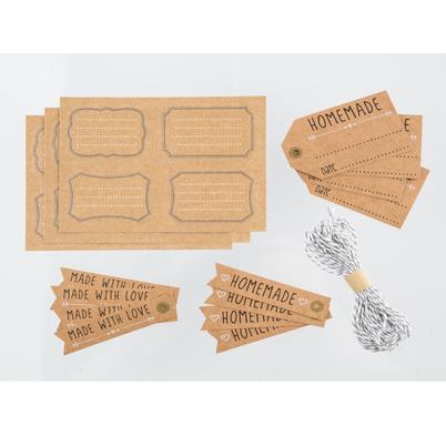 Kitchen Pantry 12pc Tag & Label Set