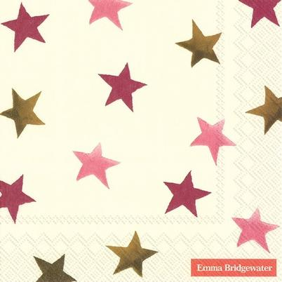 IHR Lunch Napkin Stargazer Lily Star Cream