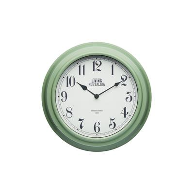 Living Nostalgia Sage Green Wall Clock