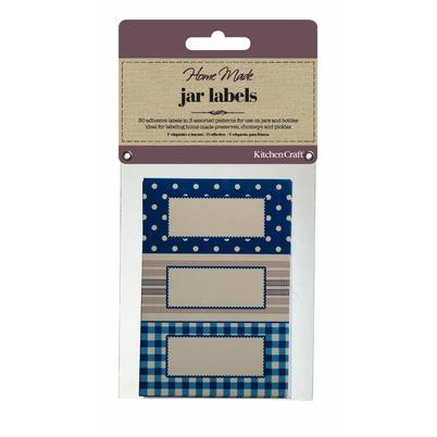 Home Made 30 Jam Jar Labels - Stitched Stripes
