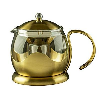 La Cafetiere Edited Le Teapot 2 Cup Brushed Gold