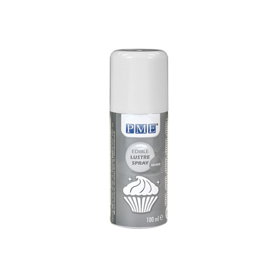PME Edible Lustre Spray Silver 100ml