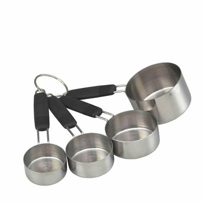 MasterClass Stainless Steel 4pc Measuring Cup Set