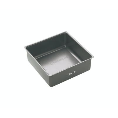MasterClass Non-Stick Loose Base Deep Square Cake Pan 15cm