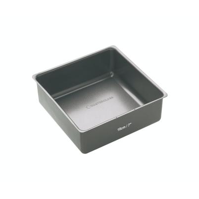 MasterClass Non-Stick Loose Base Deep Square Cake Pan 18cm