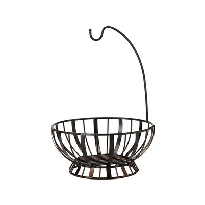 Mikasa Gourmet Band & Stripe Fruit Basket With Banana Hanger