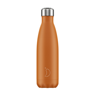 Chilly's 500ml Stainless Steel Water Bottle Matte - Burnt Orange
