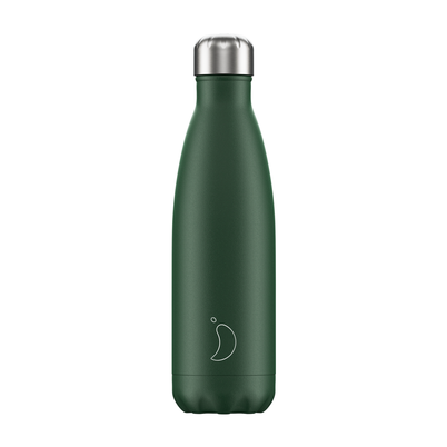 Chilly's 500ml Stainless Steel Water Bottle Matte - Green