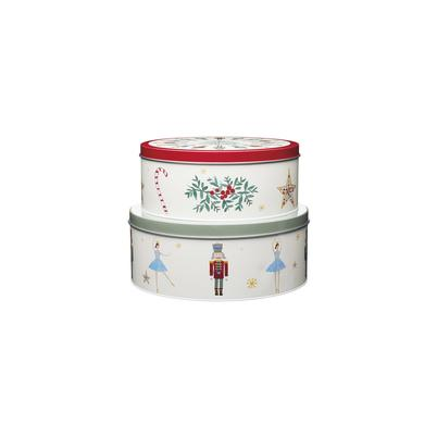 KitchenCraft The Nutcracker Collection Set of 2 Storage Cake Tins