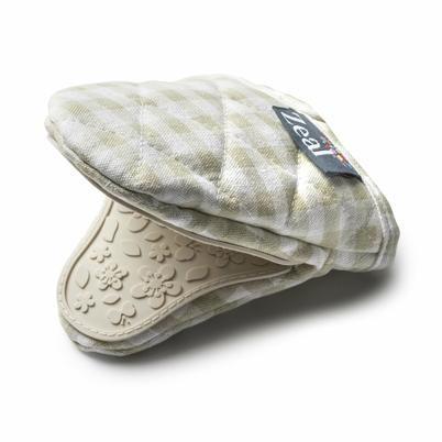 Zeal Hot Grab Gingham Fabric Silicone Mini Pot Mitt