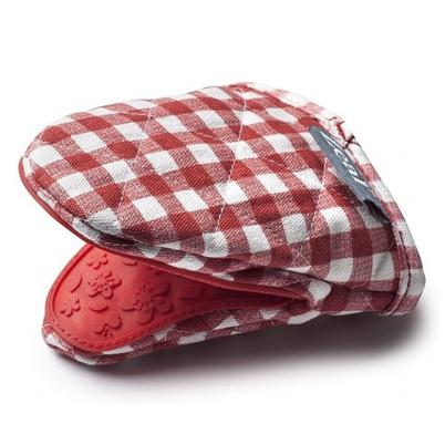 Zeal Hot Grab Fabric Silicone Mini Pot Mitt Brights Gingham