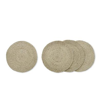 Placemats Set of 4, Woven Jute