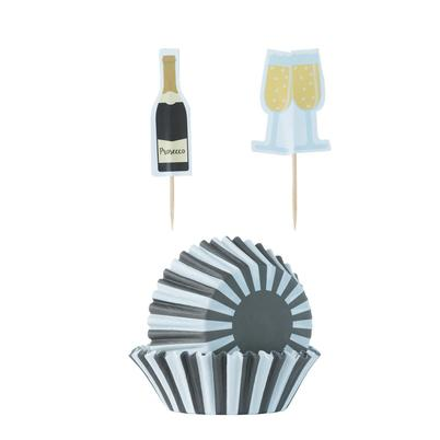 Mason Cash 48 Prosecco Cupcake Cases & Toppers