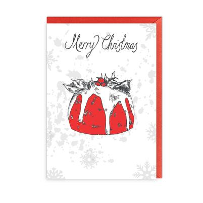 Victoria Eggs Christmas Pudding Greeting Card