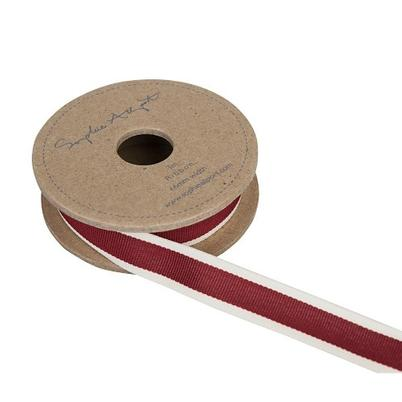 Sophie Allport Ribbon Claret Red Stripe