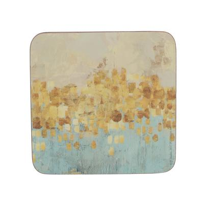 Creative Tops Golden Reflections Pack Of 6 Premium Coasters