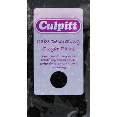 Culpitt Cake Decorating Sugar Paste Ready to Roll Icing Black 250g