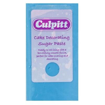 Culpitt Cake Decorating Sugar Paste Ready to Roll Icing Blue 250g