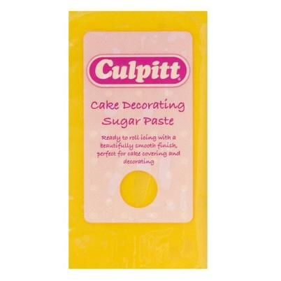 Culpitt Cake Decorating Sugar Paste Ready to Roll Icing Yellow 250g