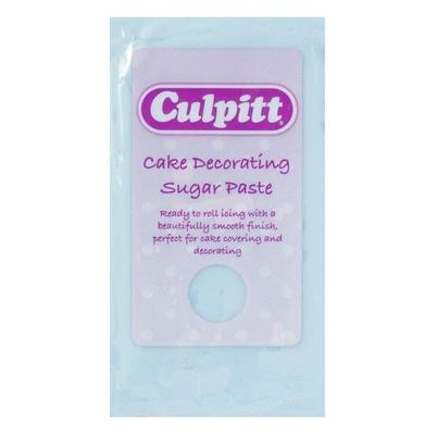 Culpitt Cake Decorating Sugar Paste Ready to Roll Icing Light Blue 250g